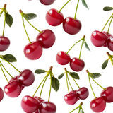 Cherries seamless wallpaper Royalty Free Stock Images