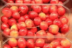 Cherries seasonal fruit farming Emilia Romagna Italy. Cherries Peaches plums seasonal fruit farming Emilia Romagna Italy royalty free stock photos