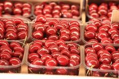 Cherries seasonal fruit farming Emilia Romagna Italy. Cherries Peaches plums seasonal fruit farming Emilia Romagna Italy stock photo