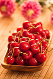 Cherries with shallow DOF Stock Photography