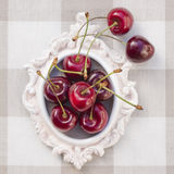 Cherries in a small frame Royalty Free Stock Photography