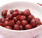 Cherries. Some fresh cherries in a bowl Stock Image