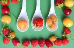 Cherries, strawberries, raspberries Royalty Free Stock Photos