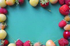 Cherries, strawberries, raspberries Stock Image