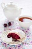 Cherries strudel Royalty Free Stock Photos