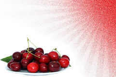 Cherries sunshine backgound Stock Photo
