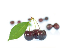 Cherries. Sweet cherries on a white background Royalty Free Stock Image