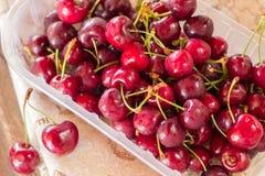 Cherries on table closeup Stock Photo