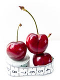 Cherries on Tape measure 2 Stock Images