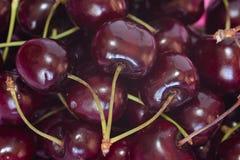 Cherries. Three cherries , space, red royalty free stock photos