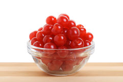 Cherries in a transparent bowl. Stock Photography