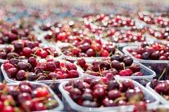 Cherries, Tubs Of Cherries Royalty Free Stock Images