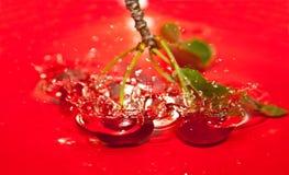Cherries tumbling Stock Photo