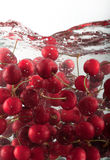 Cherries underwater b Royalty Free Stock Photos