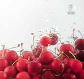 Cherries underwater a Royalty Free Stock Photography
