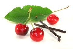 Cherries with vanilla Stock Photos