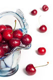 Cherries in vase Royalty Free Stock Image