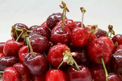 Cherries with waterdrops Stock Photography