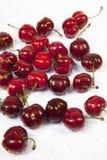 Cherries on white Stock Photography
