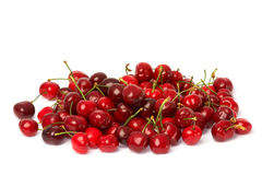 Cherries on white Royalty Free Stock Photography