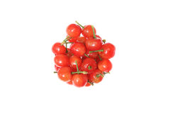 Cherries in a white backgroud Royalty Free Stock Images