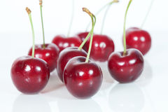 Cherries on white background Royalty Free Stock Image