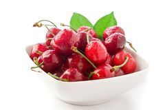 Cherries on white background Stock Image