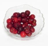 Cherries on white background Stock Photo