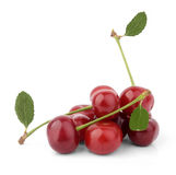 Cherries on a white background. File contains a path to cut Stock Images
