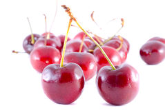 Cherries on white background Royalty Free Stock Photo
