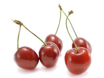 Cherries on white background Royalty Free Stock Photography