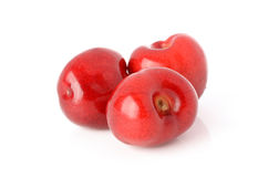 Cherries on a white background. Fresh and healthy cherries on a white background isolated Royalty Free Stock Photos