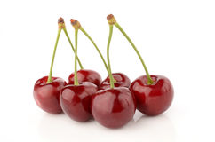 Cherries on a white background. Fresh and healthy cherries on a white background isolated Stock Photos