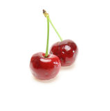 Cherries in a white background Stock Photography