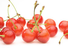 Cherries in a white background Stock Image