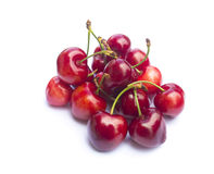 Cherries on white Stock Photo