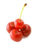 Cherry. Isolated heap of cherries on a white background royalty free stock photo
