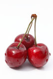Cherry. Three berry isolated on white background Stock Photo