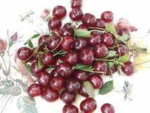 Cherry. Fresh red cherry with drops of water Royalty Free Stock Photo