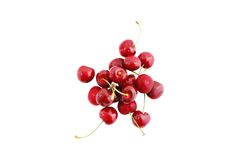 Cherry. Delicious cherry on a white background Royalty Free Stock Photography