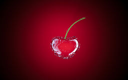Cherry. Red cherry 3D illustration image Royalty Free Stock Image
