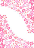 Cherry. Background illustration of cherry beautiful pink Stock Photos