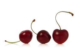 Cherry. Cherries isolated over white background Stock Photo