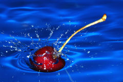Cherry. Diving Royalty Free Stock Image