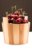 Cherry. Red Cherry isolated on dark background Royalty Free Stock Images
