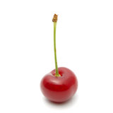 Cherry. Red ripe cherry on a white background Stock Photo