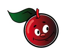Cherry. Happy cherry - isolated cartoon illustration on white (with vector EPS format Royalty Free Stock Photos
