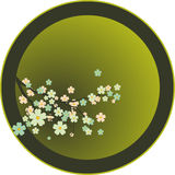 Cherry. Vector decoration - Oriental cherry tree Royalty Free Stock Photography