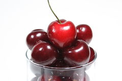 Cherry. In the cup Royalty Free Stock Photos