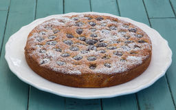 Cherry Almond Cake Foto de Stock Royalty Free